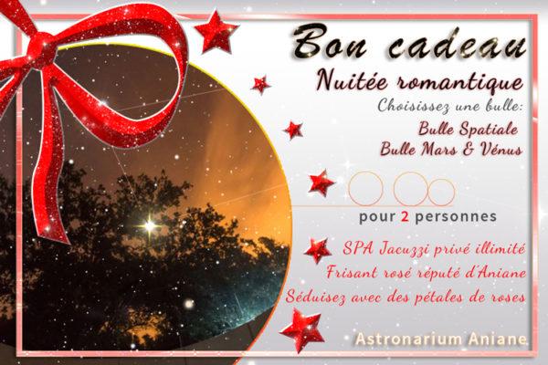 Bon cadeau nuit insolite Romantique